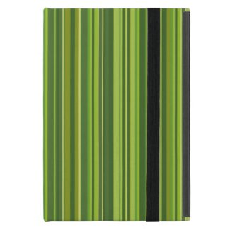 Viele bunte Streifen im grünen Muster iPad Mini Schutzhüllen