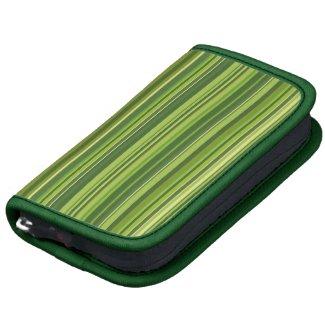 Viele bunte Streifen im grünen Muster Folio Planer
