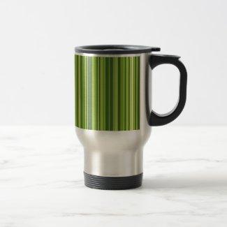 Viele bunte Streifen im grünen Muster Kaffee Haferl