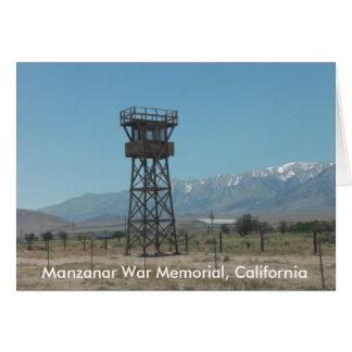 Manzanar Kriegs-Denkmal-Wachturm Karte