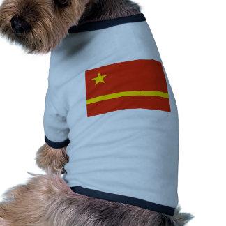 Mao Zedong Antrag für die Prc-Flagge Haustierhemden