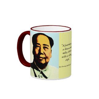 Mao-Zitat-Geschenk-Tasse Ringer Tasse