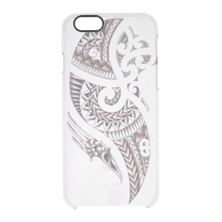 Maori- Entwurfstelefonabdeckung Durchsichtige iPhone 6/6S Hülle