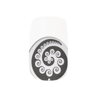 MAORI- KORU Entwurfs-Nagelkunst von Neuseeland Minx Nagelkunst