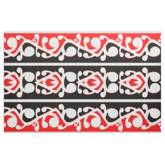 Maori- Kowhaiwhai traditionelles Muster Stoff