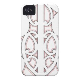 Maori- Stammes- Kunst Case-Mate iPhone 4 Hüllen