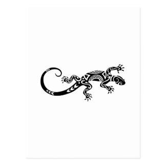 Maori- Tätowierung der Eidechse Postkarte