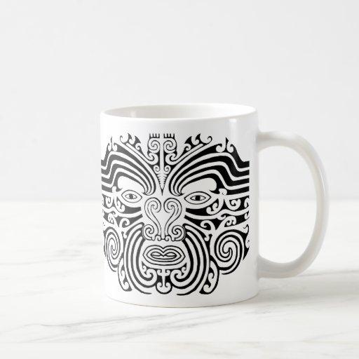 maori t towierung schwarzweiss kaffee tassen zazzle. Black Bedroom Furniture Sets. Home Design Ideas