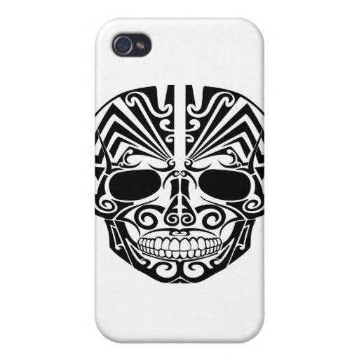 Maori- Tätowierungs-Masken-Schädel iPhone 4 Hülle
