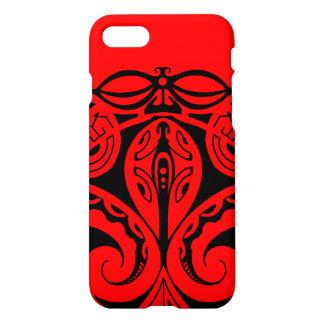 Maori- tiki Tätowierung mit Stammes- Eidechse iPhone 8/7 Hülle