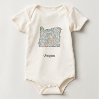 map_line_US_01_Oregon.ai Baby Strampler