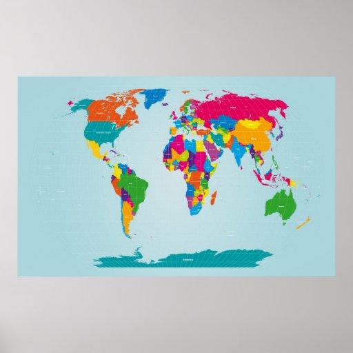 Mapf der Weltkarte Poster