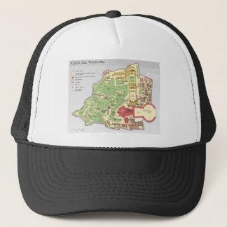 Mappa della Città Del Vaticano diagramma Vatikan Truckerkappe