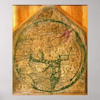 Mappa Mundi, c.1290 Poster