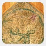 Mappa Mundi, c.1290 Quadrataufkleber