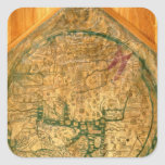 Mappa Mundi, c.1290 Quadratischer Aufkleber