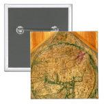 Mappa Mundi, c.1290 Quadratischer Button 5,1 Cm