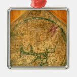 Mappa Mundi, c.1290 Quadratisches Silberfarbenes Ornament