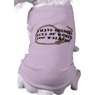 Mappen voll der Frauen-Hundewanderer T-Shirt