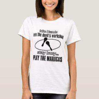 maracas Musik Entwürfe T-Shirt
