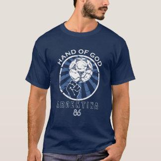 Maradona 86 Weltmeisterschaft-Hand des Gottes T-Shirt