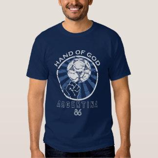 Maradona 86 Weltmeisterschaft-Hand des Gottes Tshirts