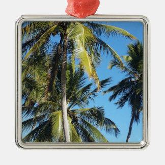 Maragogi Palmen Silbernes Ornament