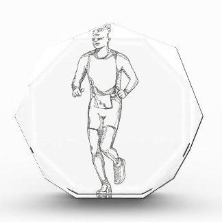 Marathon-Betriebs-Gekritzel-Kunst Auszeichnung