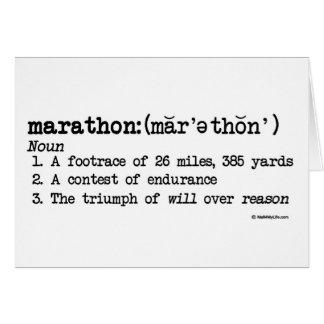 Marathon-Definitions-Glückwünsche Karten