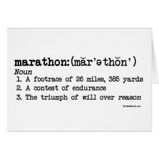 Marathon-Definitions-viel Glück Karte