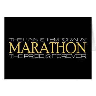 Marathon - der Stolz ist Forever Grußkarten