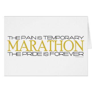 Marathon - der Stolz ist für immer - viel Glück Karte