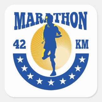 Marathon Aufkleber