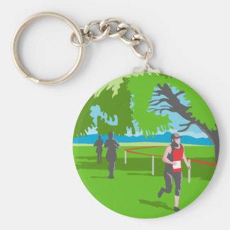 Marathon-Läufer, der WPA laufen lässt Schlüsselanhänger