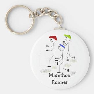 Marathon-Läufer Standard Runder Schlüsselanhänger