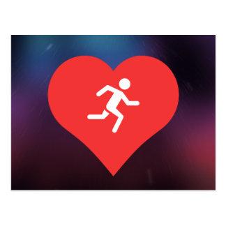 Marathon-Piktogramm Postkarte