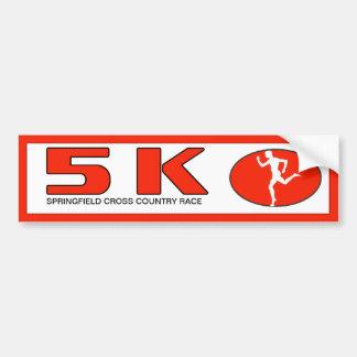 Marathon-Rennen-Läufer 5K personalisiert Autoaufkleber