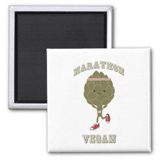 Marathon vegan quadratischer magnet