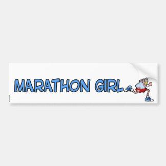 Marathonmädchen Autoaufkleber