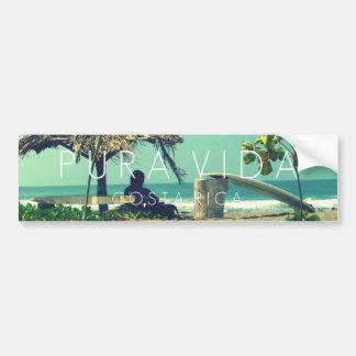 Marbella-Surfer Pura Vida Costa Rica Stoßdämpfer Autoaufkleber