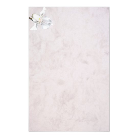 marbled stationery orchid briefpapier