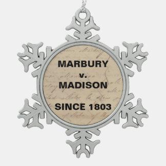 Marbury Madison Karo-und Balancen-Schneeflocke Schneeflocken Zinn-Ornament