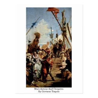 Marc Antony und Kleopatra durch Giovanni Tiepolo Postkarte