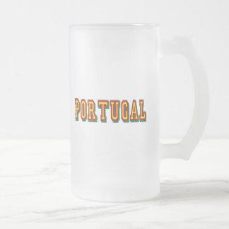 """Marca-""""Portugal"""" por Fás tun Futebol Português Mattglas Bierglas"""