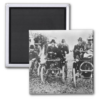 Marcel (d.1903) und Louis (1877-1944) Renault driv Quadratischer Magnet