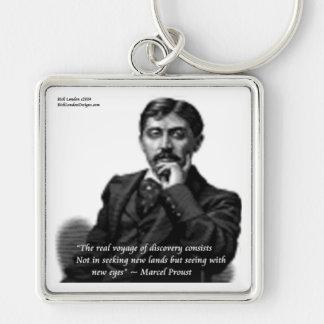 Marcel Proust u. berühmtes Zitat Schlüsselanhänger