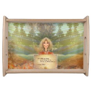 Märchen-Fall-Psalm 126 gefüllt mit Freude Tablett
