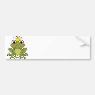 Märchen-Frosch-Prinz mit Krone Autoaufkleber