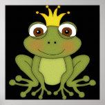 Märchen-Frosch-Prinz mit Krone Plakate