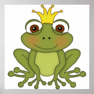 Märchen-Frosch-Prinz mit Krone Poster